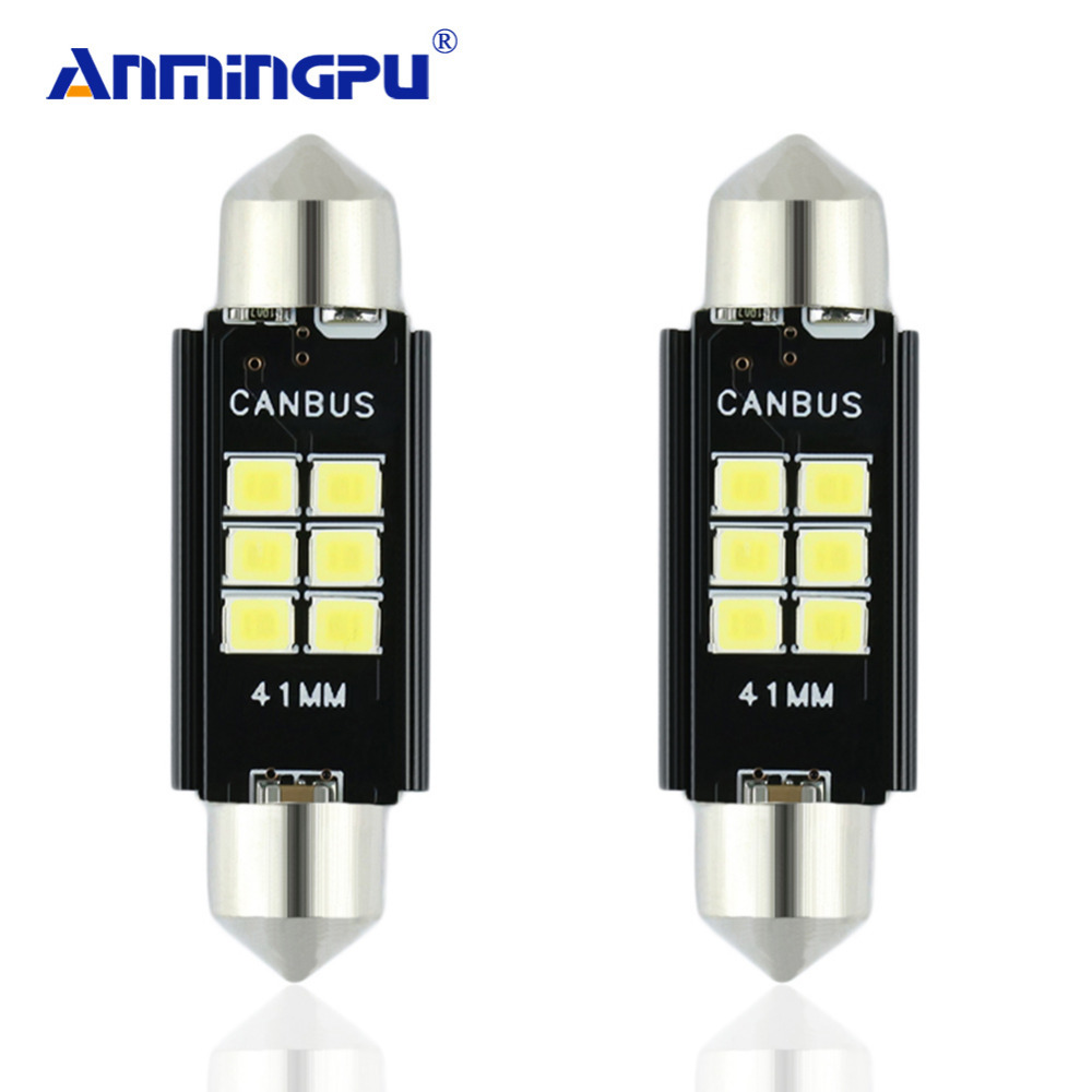 ANMINGPU 2x Signal Lamp Super Bright C5W Led C10W 31mm 36mm 39mm 41mm Festoon Lamp CANBUS Interior Dome Lamp Reading Bulb 2pcs festoon led 36mm 39mm 41mm canbus auto led lamp 12v festoon dome light led car dome reading lights c5w led canbus 36mm 39mm