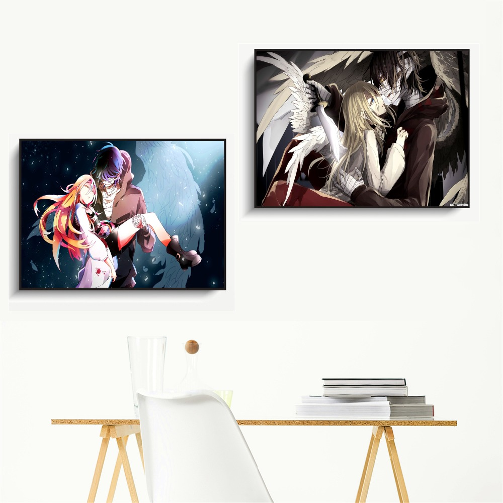 Satsuriku No Tenshi Anime Artwork Posters And Prints Wall Art Canvas Painting For Living Room Decoration Home Decor Unframed in Painting Calligraphy from Home Garden