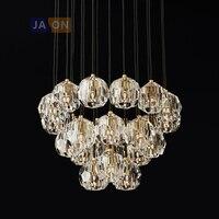 G9 led Retro rocznika amerykański żelaza kryształ lampa LED światła LED. wisiorek światła. lampa wisząca. wisiorek światła do jadalni w Wiszące lampki od Lampy i oświetlenie na