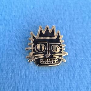 Image 1 - Jean Michele Basquiat Cat Lapel Pin Badge