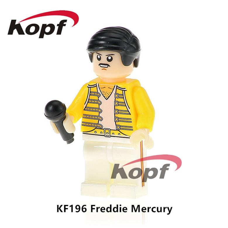 20Pcs Building Blocks Super Heroes Freddie Mercury Lead Singer Queen Popeye Donald Trump Toys Model Bricks Children Gift KF196
