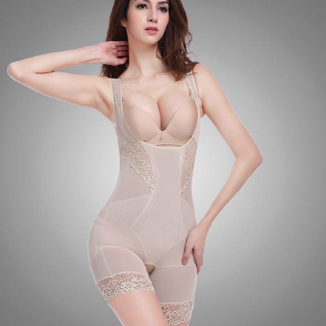 PRAYGER Lace Women Butt Lifter Sculpting Shapewear Full Body Control Corset Slimming Abdomen Lift Bras Shaper Charcoal Underwear