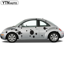 custom for mini smart beetle sticker 44pc car body Spots Polka Dots styling graphic vinyls modified accessories decorative decal