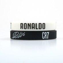 CR7 Криштиано Роналду силиконовый браслет футбольные фанаты клуб силиконовый браслет черный белый цвета взрослые дети размер мода