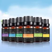 Aceites esenciales puros de plantas de 10ml para difusores aromáticos de aromaterapia aceite de Aroma lavanda Lemongrass aceite Natural aire fresco aceite corporal