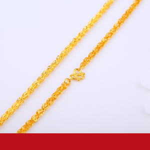 Image 3 - JLZB 24K Pure Gold Necklace Real AU 999 Solid Gold Chain Smart Beautiful Upscale Trendy Classic  Fine Jewelry Hot Sell New 2020