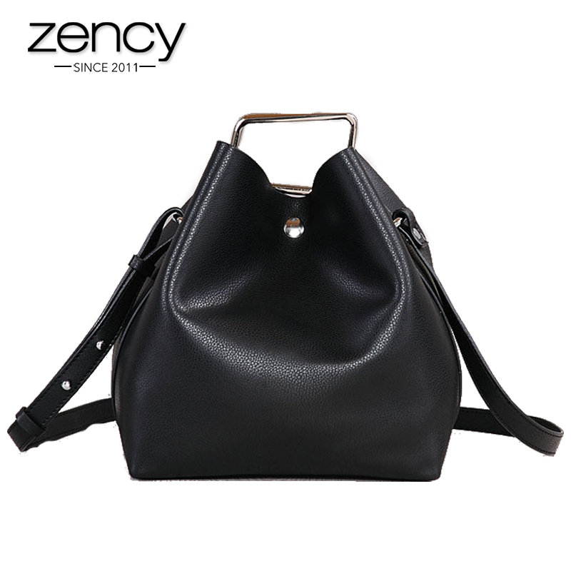 2017 Genuine Leather Shoulder Tote Bag Luxury Handbag Women Designer Famouse Brand Bucket Quality Crossbody Bolsa Feminina luxury genuine leather bag fashion brand designer women handbag cowhide leather shoulder composite bag casual totes