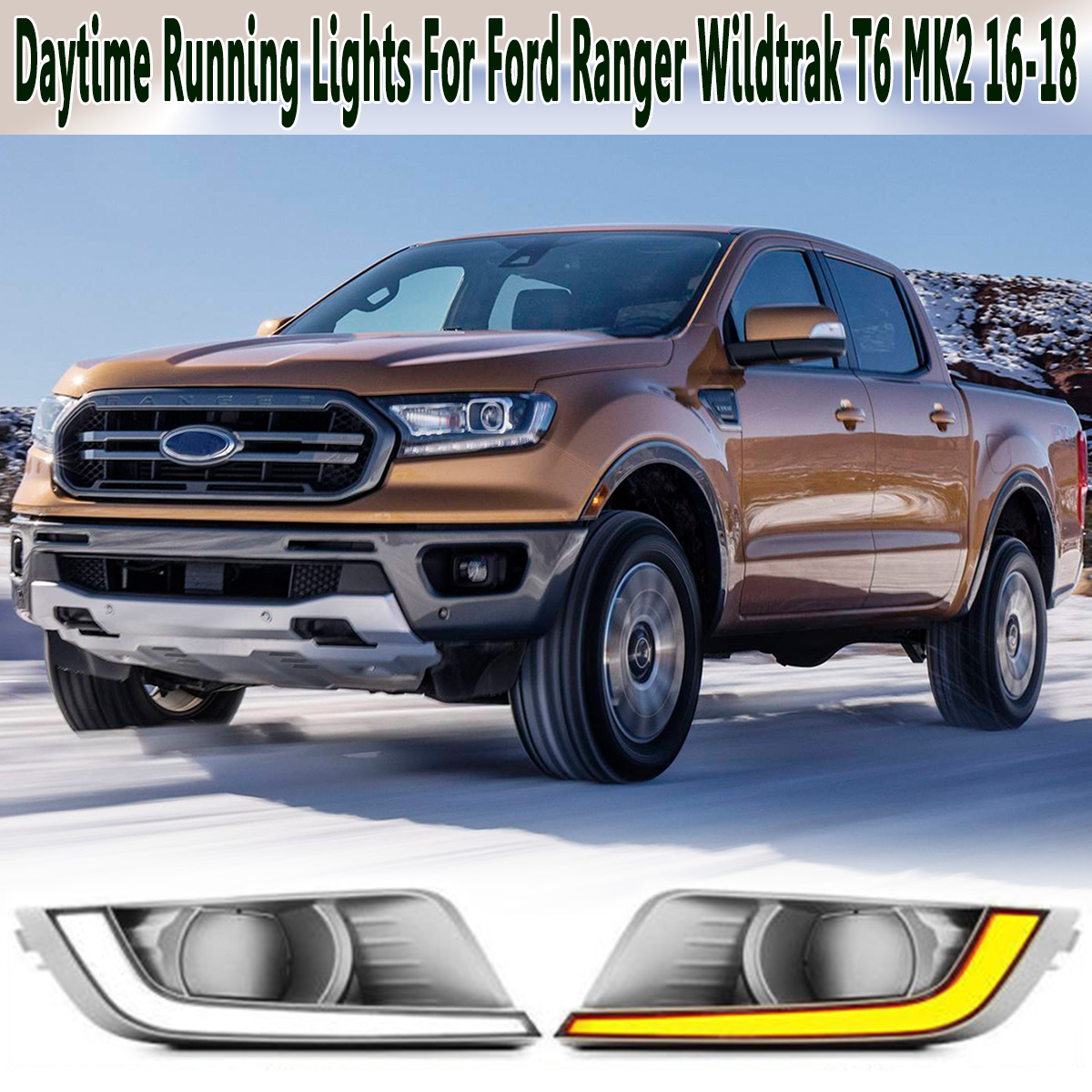 2pcs COB LED DRL Daytime Running Car Lights Assembly Lamp for Ford Ranger T6 MK2 2016-2018 XL XLT K sesibibi 2pcs цвет случайный xl