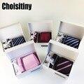 3.35 polegada gravata paisley clássico listrado gravata masculina casamento moda festa homem gravata lenço pino abotoaduras caixa de presente embalagem