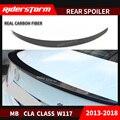 Для Mercedes CLA Class W117 спойлер из углеродного волокна спойлер заднего багажника  крыла 2014-2018 задний бампер задний спойлер
