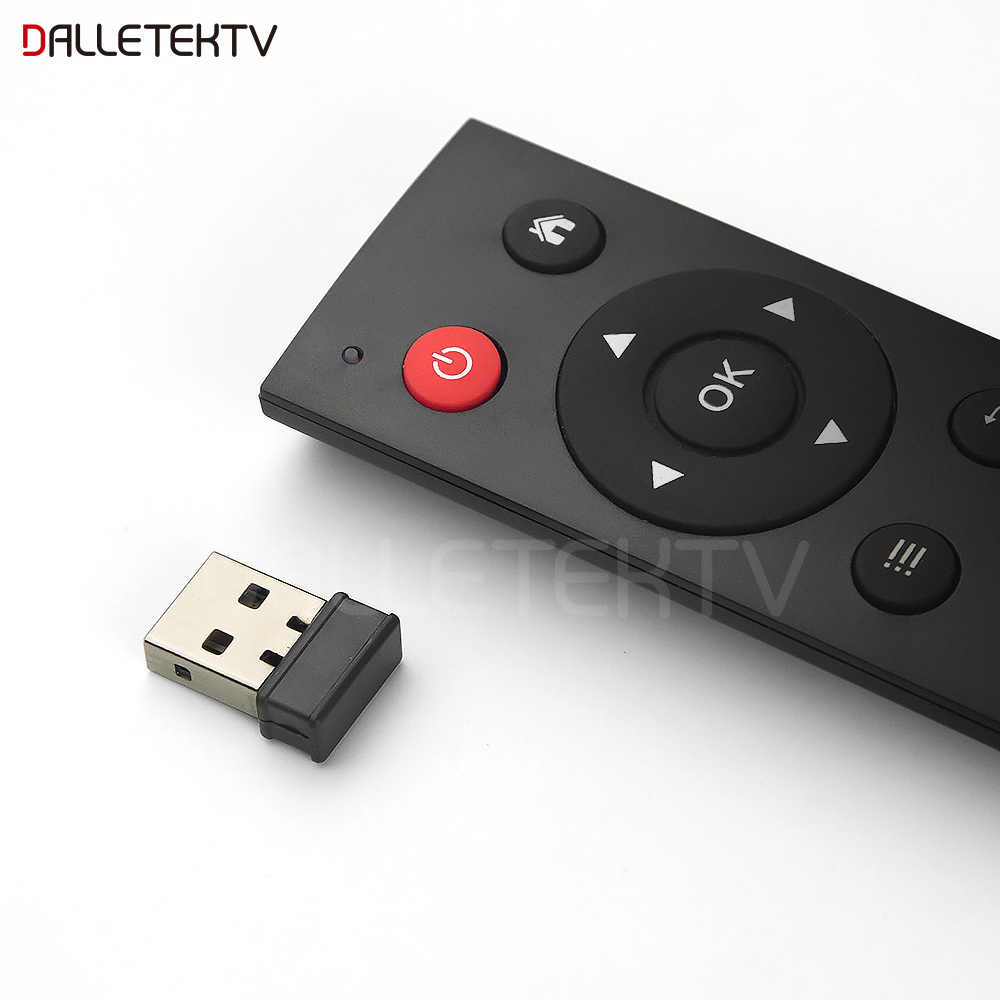 Dalletektv universel 2.4G sans fil Air souris télécommande Support décodeur intelligent Android/Windows/Mac OS/Lilux