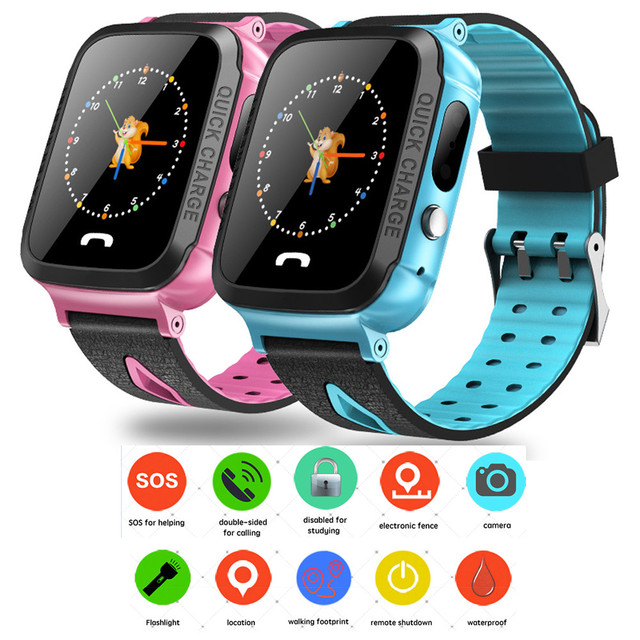 IP67 Waterproof Fitness Tracker Watch Phone with SIM SOS Camera Anti-lost Game P