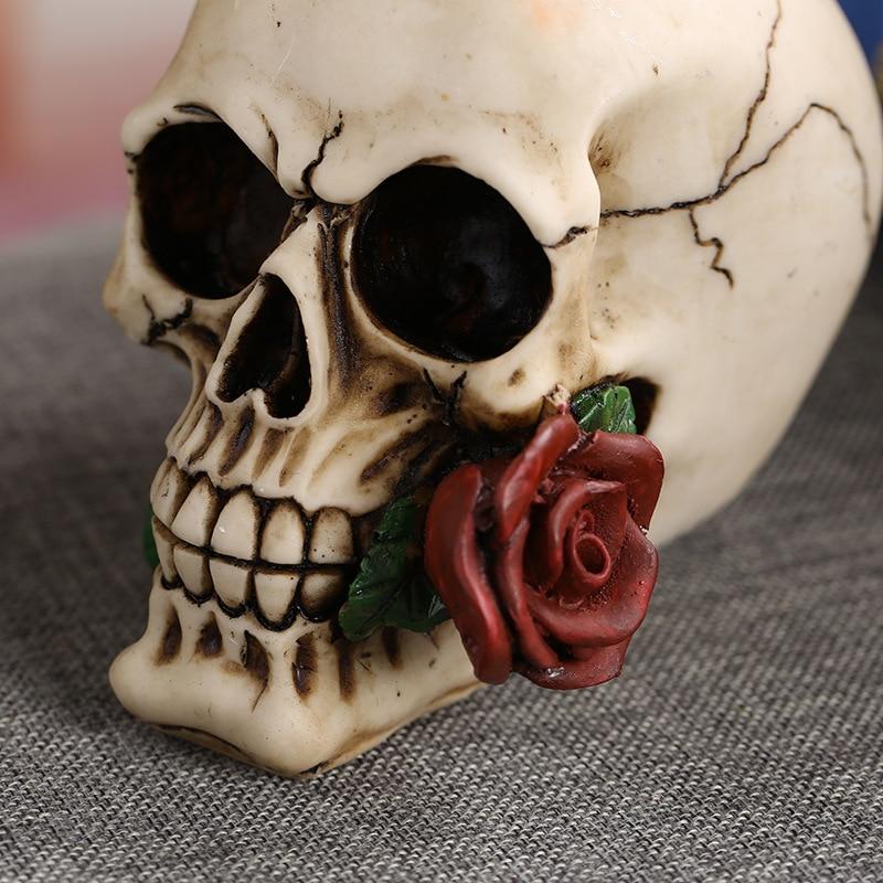 da rosa do crânio da decoração