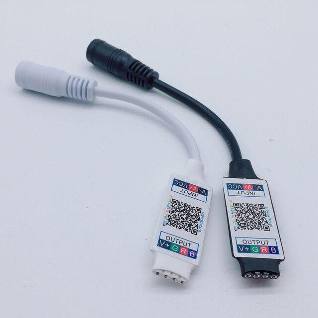 Wifi Mini RGB RGB bluetooth denetleyicisi DC 5V 12V 24V Mini müzik bluetooth denetleyicisi ışık şeridi için RGB RGBW LED şerit