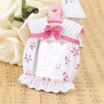 Hot Fashion Resin Baby Shower Clothes Pattern Baby Photo Frame Small pink and blue Picture Frame Gifts Home Decor baby show gift
