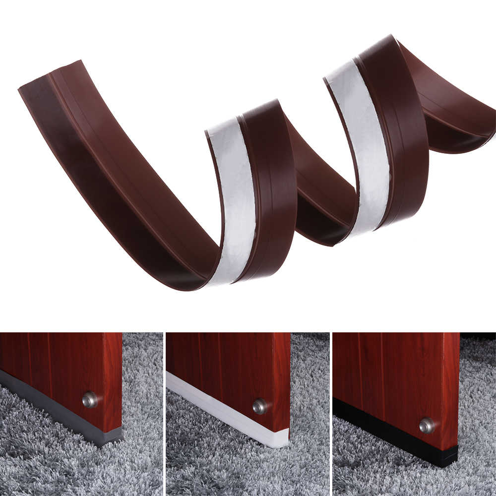 1Pcs 35mm Frameless Window Sliding Door Seals Sliding Sealing Strips Weatherstrip Draft Stopper For Door Silicon Rubber