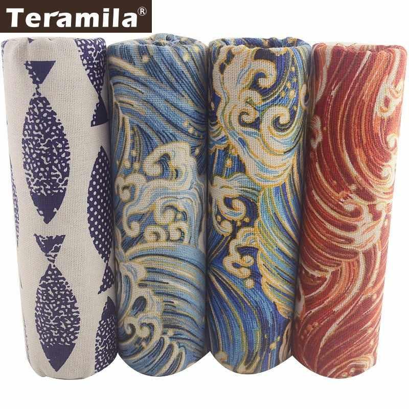 Teramila אפריקאי בד כותנה פשתן בד אנקרה Telas תיקוני Tissu תפירת DIY כרית וילון תיק 4PCS 45x45cm בית טקסטיל