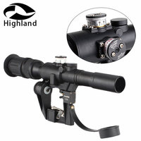 Tactical Red Illuminated 4x24 PSO 1 Type Riflescope for Dragonov SVD Sniper Rifle Series AK Rifle Scope Hunting