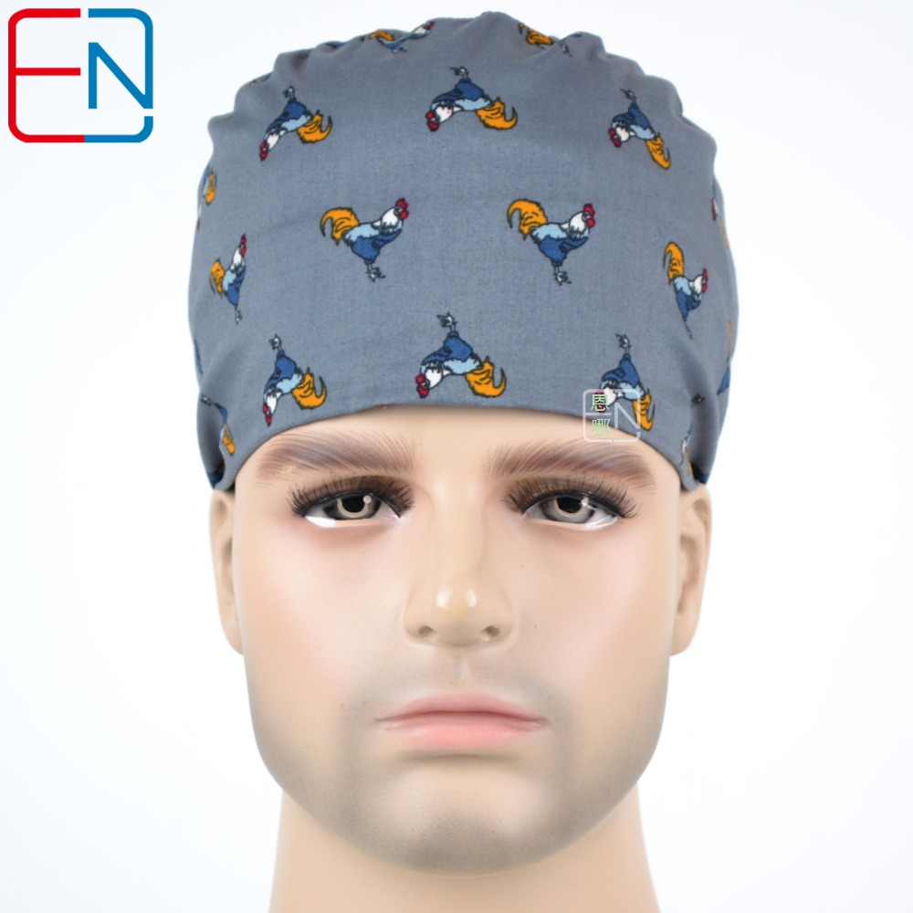Hennar Surgical Scrub Caps For Hospital Medical Doctor Nurse Caps Masks Adjustable Size Freely With Elastic Bands Caps Unisex