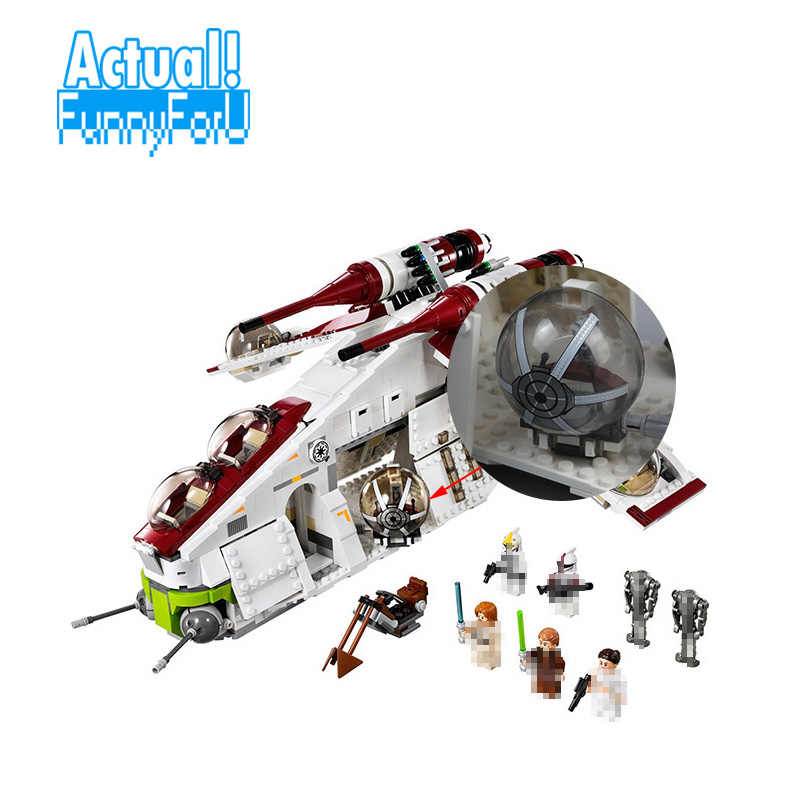 LEPIN 05041 Republic Gunship Star Clone Wars Building Blocks Bricks Toys Educational For Kids Compatible with legoINGly 75021 new 5041 star wars series the the republic gunship building blocks bricks toys compatible with legoingly children model starwars