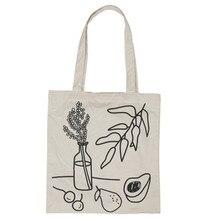 New Eco Friendly Shopping Bag Lovely Canvas Handbag Shoulder Tote Satchel Messenger Square Fruit