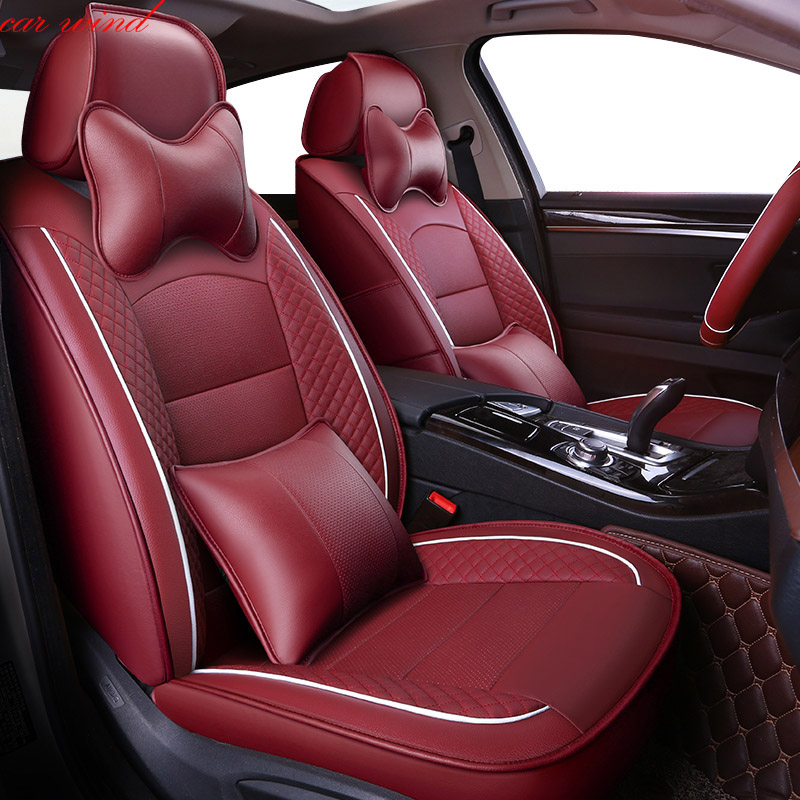 Car Wind Auto automobiles Leather car seat cover For Kia soul cerato sportage 2 3 2017 optima RIO Ceed cover for vehicle seat high quality luxury special car seat cover for kia k4 k5 kia rio ceed cerato sportage optima maxima automobiles sticker