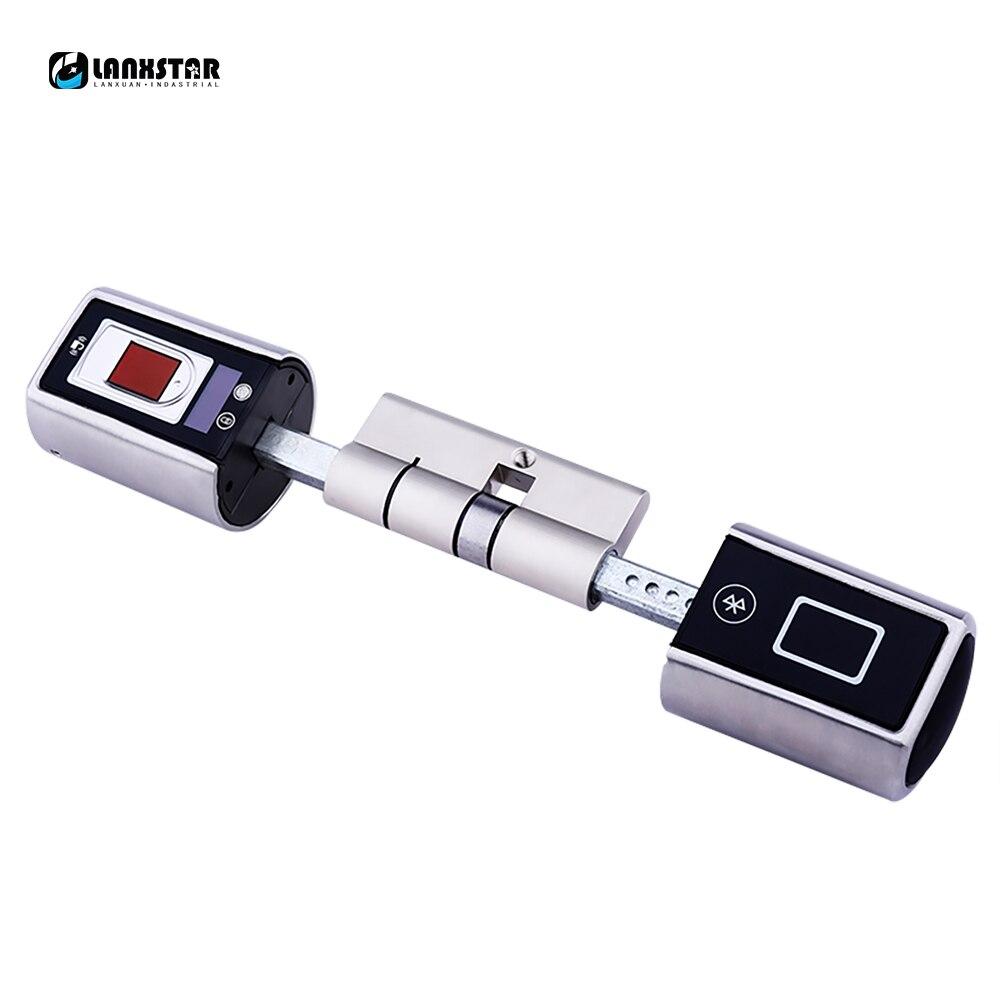 купить Smart Electronic Lock Unlock By Password Bluetooth Double side system lock fingerprint door lock remote control door use недорого