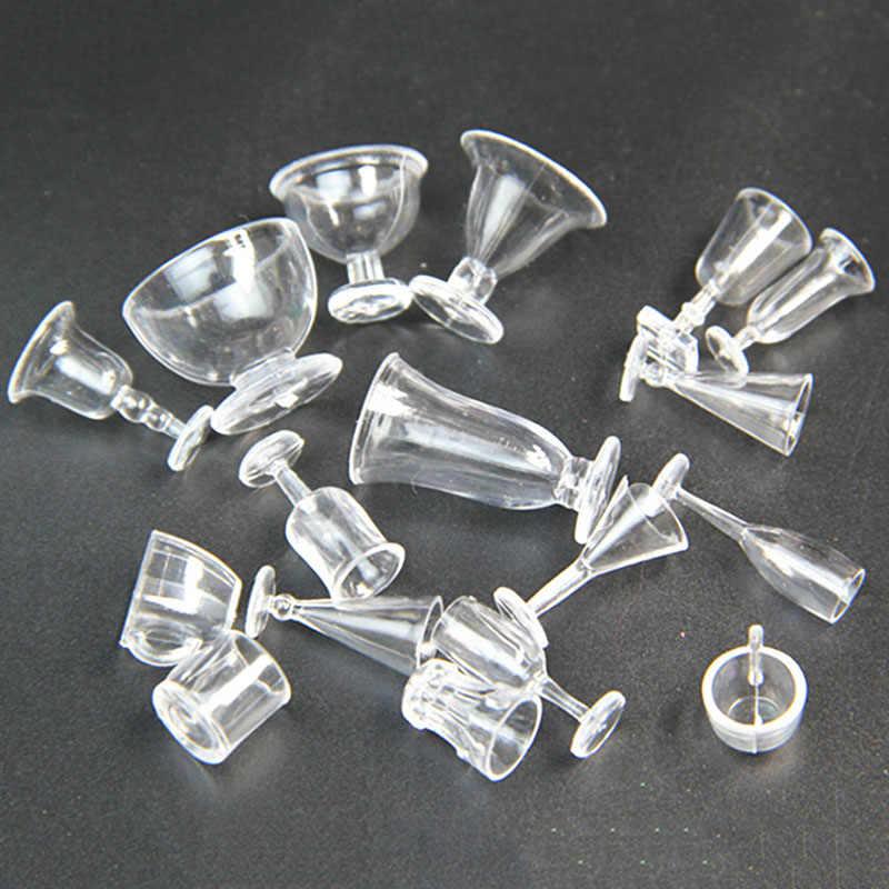 17 sztuk 1/12 skala Dollhouse miniaturowe kubki na napoje zestaw Model udawaj zagraj w Mini Food Doll akcesoria Fit Toy TY0255