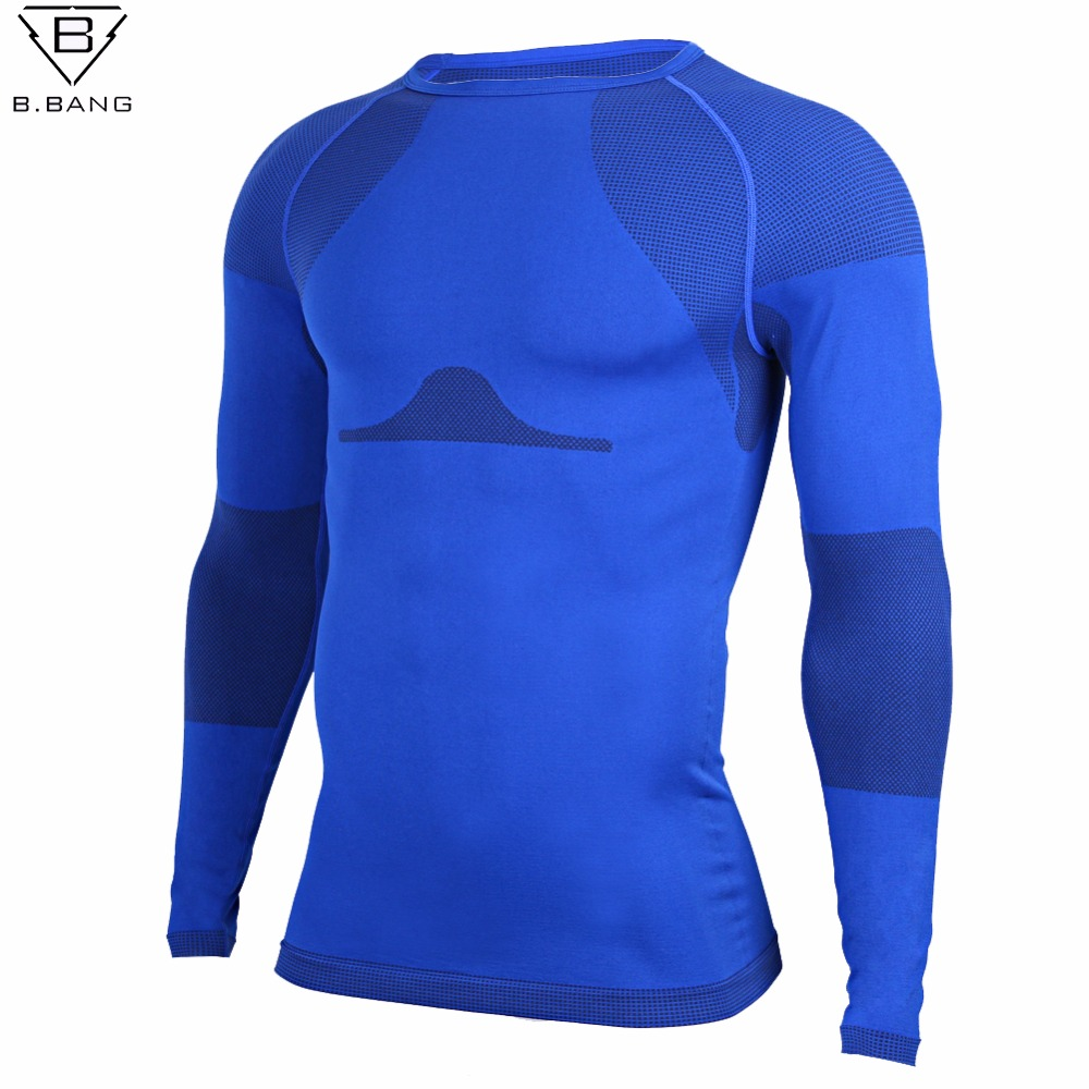 B bang outdoor fitness men long sleeve running sports t for Long sleeve sports shirt