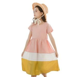 Image 5 - Vestidos infantiles para niñas 2020 nuevo vestido de algodón para bebés traje informal para madre e hija vestido de ocio para niños pequeños ropa de adolescentes, #5080