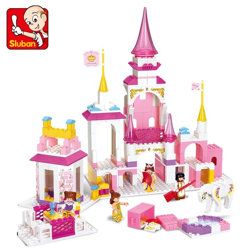 S Model Compatible with Lego B0251 385pcs Girl Princess Castle Models Building Kits Blocks Toys Hobby Hobbies For Boys Girls цена