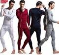 2016 nueva moda Casual hombres otoño invierno Modal ropa de noche fija fuerte atractivo para hombre Undershirt body ropa interior de tela suave sml XL