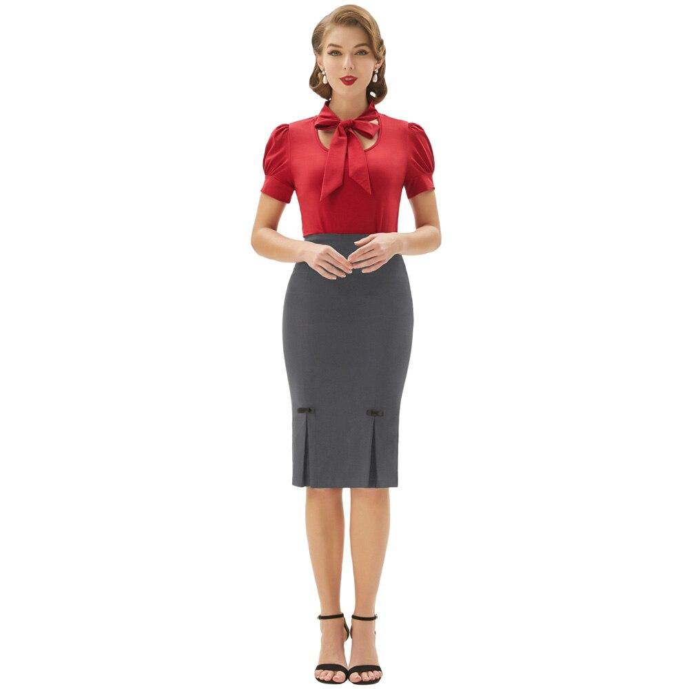 d89a8f580 Elegante para mujer de negocios de Vintage caderas-envuelto vestido meneo  lápiz falda nueva