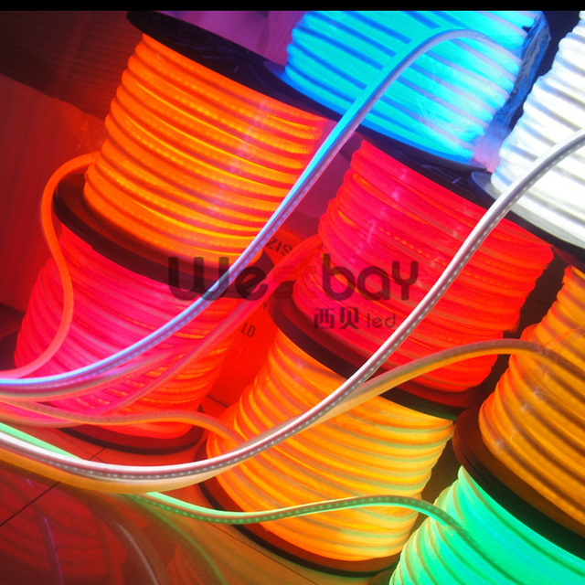 Led Neon Flex In AC240V With Redgreenblueyellowwhite