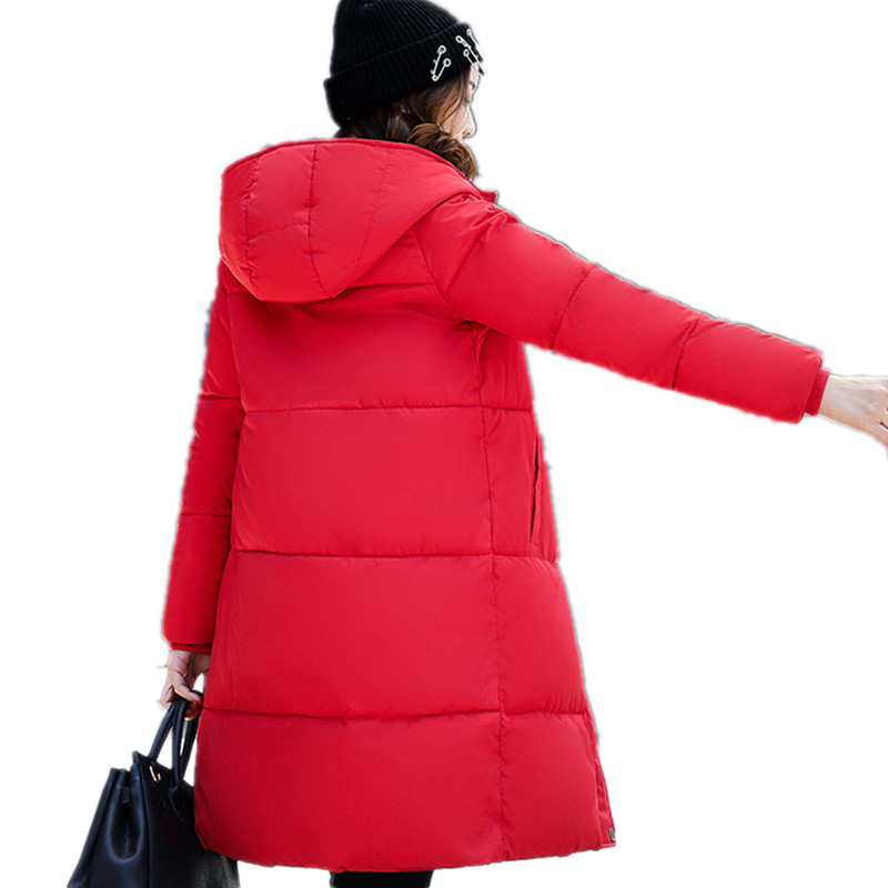 Veste Épaississent 2017 vert Chaud Mode Nouveau Femmes La gris blanc Long Capuche Parkas Femelle Hiver Xylxjq Arrivent pink Black rembourré Coton red À Manteau Hq151 qOznawZ1t