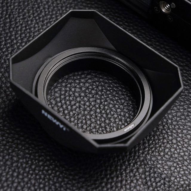 37 39 40.5 43 46 49 52 55 58mm support de vis pour capot dobjectif de forme carrée pour objectif sans miroir et caméscopes DV et caméra vidéo