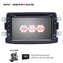 SMARTECH Android 7.1.2 Car CD DVD GPS Navigation For Dacia Duster Sandero Renault Duster Captur Lada XRAY 2 Logan 2 with CAN-BUS
