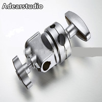 Wholesale Photo Studio Accessories Universal Heavy Duty Flash Light Backet Stand Arm Double Dual Grip Head Clamp CD50
