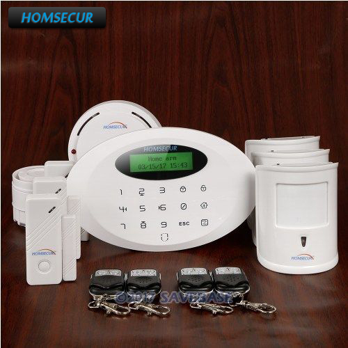 HOMSECUR Wireless GSM SMS Autodial Home House font b Alarm b font System With IOS Android