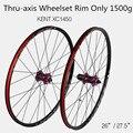 XC1450 MTB горный велосипед 26 27 5 дюймов колеса из углеродного волокна герметичный Подшипник Ступицы через оси колеса колесная обод только 1500 г