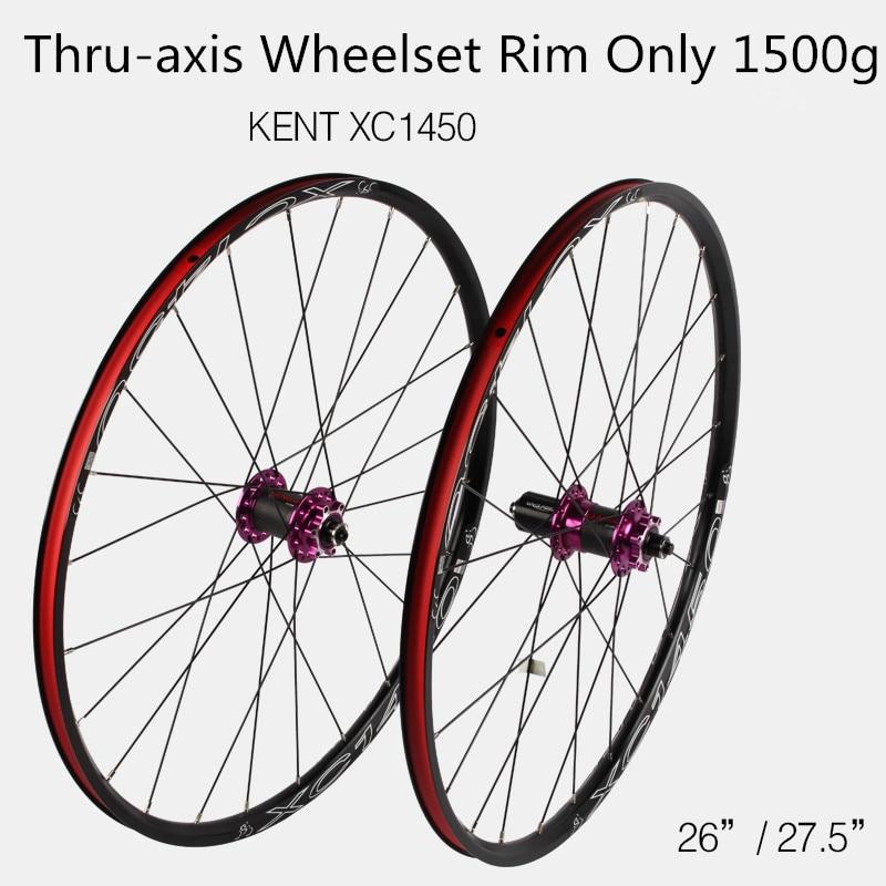 XC1450 MTB Mountain Bike Bicycle 26 27.5inch Carbon Fiber Wheel Sealed Bearing Hub Thru-axis Wheels Wheelset Rim Only 1500g все цены