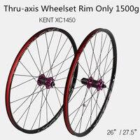 Xc1450 mtb 산악 자전거 자전거 26 27.5 인치 탄소 섬유 휠 밀폐형 베어링 허브 스루 축 휠 휠셋 림 전용 1500g