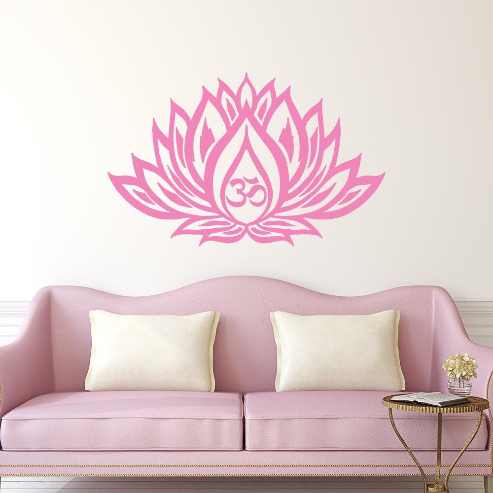 Hot Sale Lotus Flower Art Wall Stickers Bedroom Dorm Yoga Studio