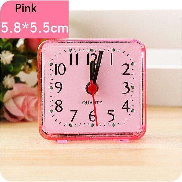 Square Mini Bed Travel Quartz Beep Table Alarm Clock kids Cute Portable 2018 Decoration Alarm Clocks drop shipping