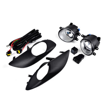 Pair Front Bumper Fog Light Clear w/ Switch Cables For Toyota Yaris Sedan Hatchback 2009 2010 2011