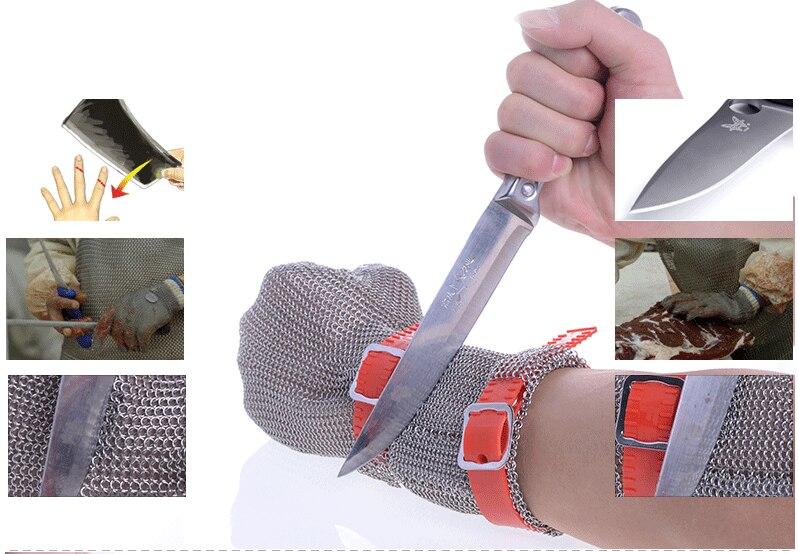Hongcho бренд 8 см длинные манжеты металлические перчатки для мясников лучшие Мясник перчатки из нержавеющей стали перчатки для резки
