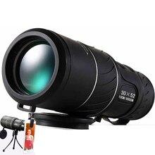 Negro HD Monocular Compacto Zoom 50×52 Zoom Prismáticos Telescopio de alta potencia de alta definición Ajustable Día caliente venta de regalos