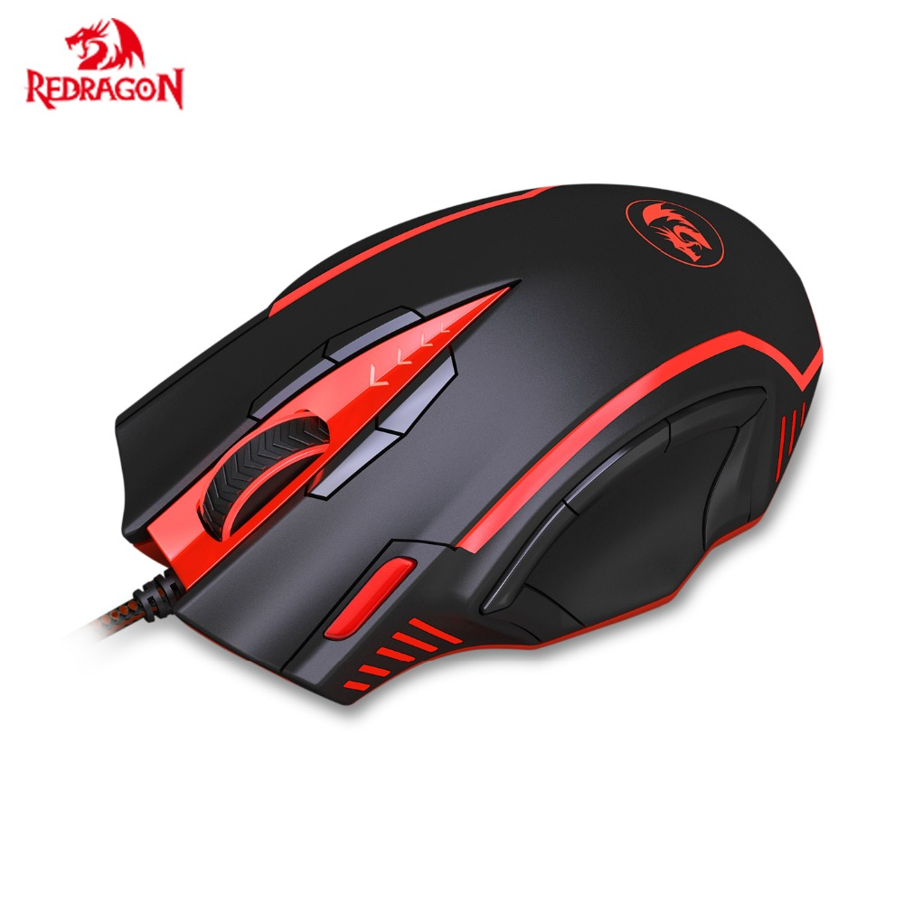 Redragon M902 Programmable Gaming Mouse High Precision RGB Backlit Weight Tuning Set 16400 DPI Laser Mice For Gamer PC, FPS MMO image