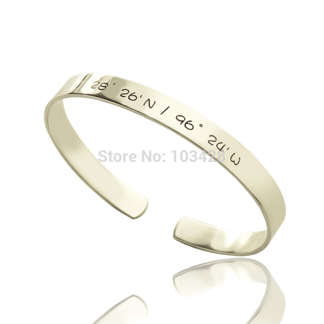 bangles open silver initials inside engraved link custom personalized bracelets quote mens bangle cuff i bracelet