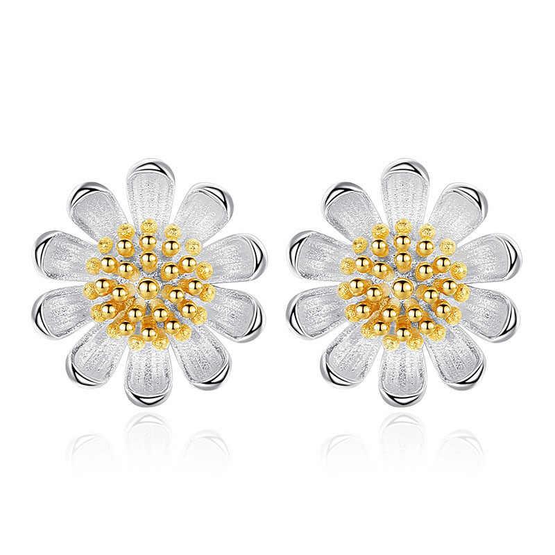 JYouHF אלגנטי שרשראות עגילי סט לנשים אופנה כסף זהב צבע דייזי פרח קסם סט תכשיטי מסיבת מתנת תכשיטים
